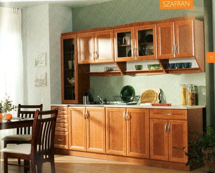 Kuchyně Szafrán AKCE 8700 KČ, Kuchyně jako foto i s pracovní deskou
