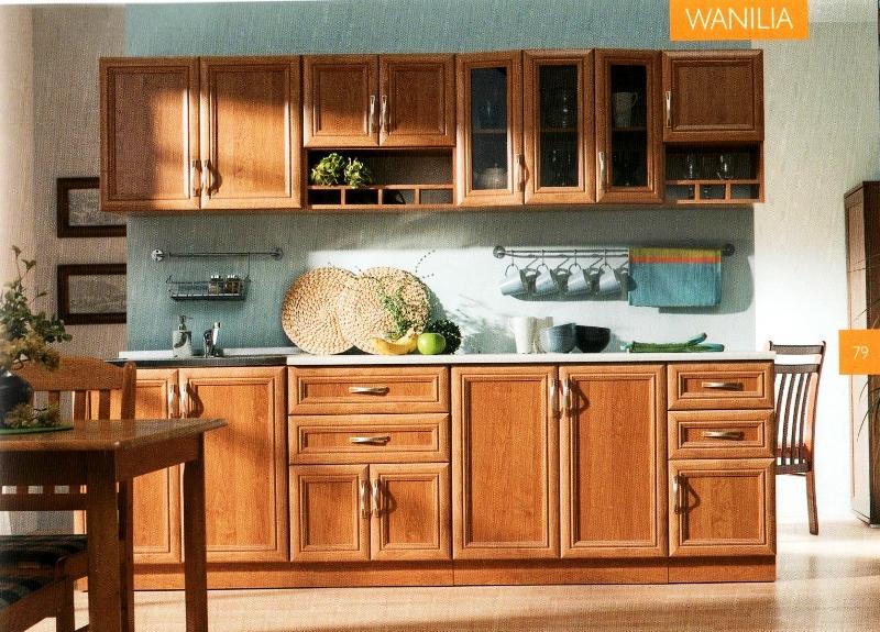 Kuchyně Wanilia AKCE 8200 KČ, Kuchyně Wanilia s pracovní deskou v ceně