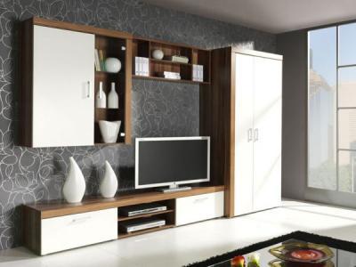 Obývací pokoj Samba bílá , obývací stěna