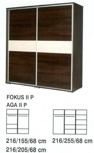 Ložnice Fokus II P, skříň 216/155/68 cm