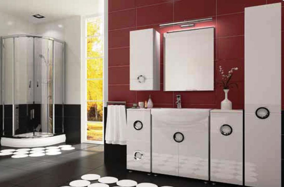 Koupelnový nábytek Ariel bílý, Ariel celá sestava bílá bez umyvadla a zrcadla