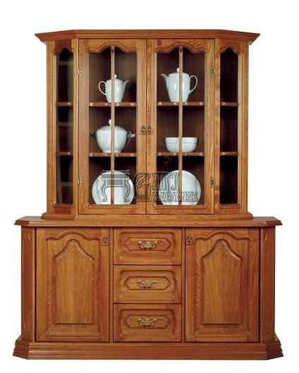 Rustikální nábytek KINGA, Kinga vitrína akomoda 165x202x50