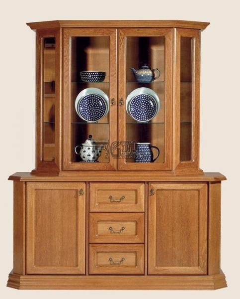 Rustikální nábytek MONIKA, vitrína+komoda 165x202x50