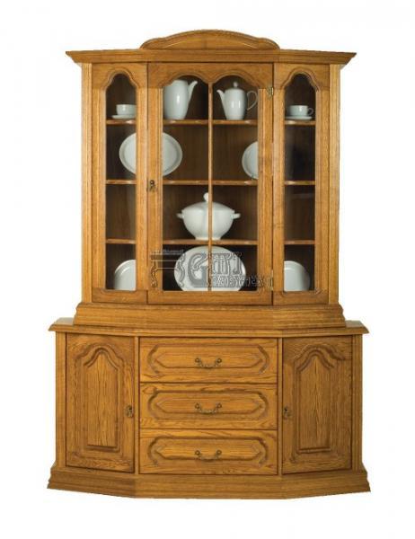 Rustikální nábytek MAGDA, I komoda+vitrína rovná 145x210x48