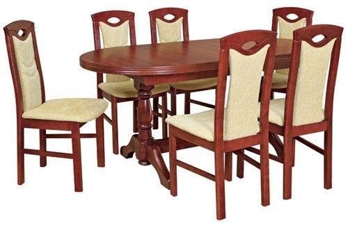Kuchyně Alaska, komplet stůl + 6 židlí