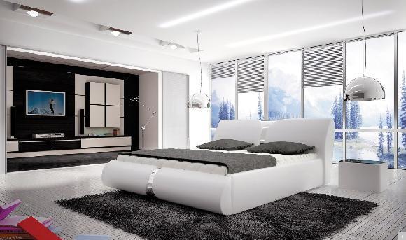 Ložnice Round, manželská postel 140x200