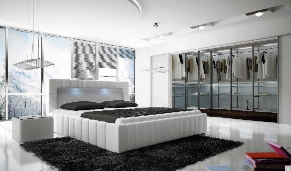 Ložnice Lucca, manželská postel 140x200