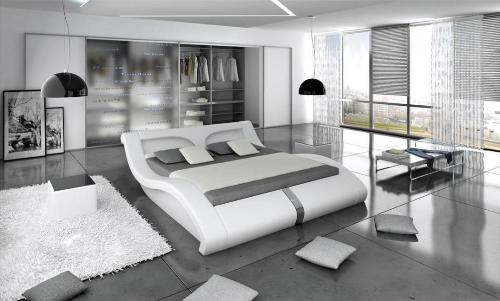 Ložnice Malibu duo 140x200, manželská postel 140x200 s LED osvětlením