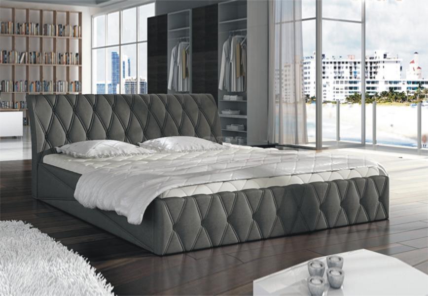 Ložnice Nord, manželská postel 140x200