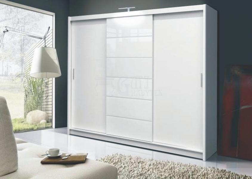 Ložnice Malibu white, Skříň s posuvnými dveřmi