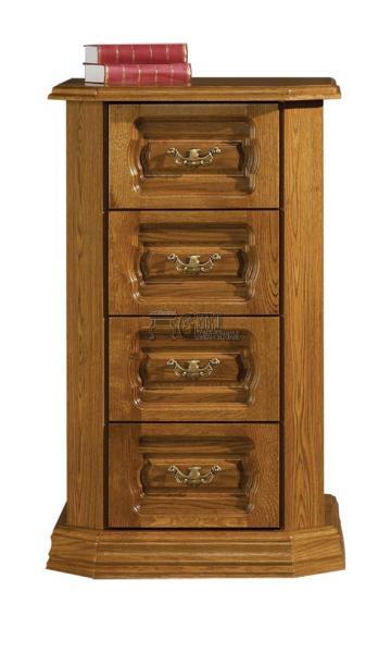 Rustikální nábytek KINGA komoda vysoká šuplíková, Kinga komoda vysoká šuplíková 65x110x50