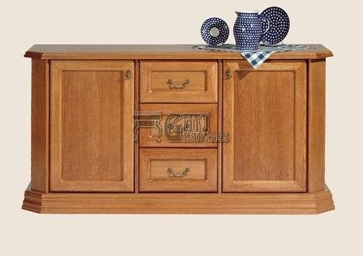 Rustikální nábytek MONIKA komoda 3 šuplíky, Monika komoda 3 šuplíky 165x85x50