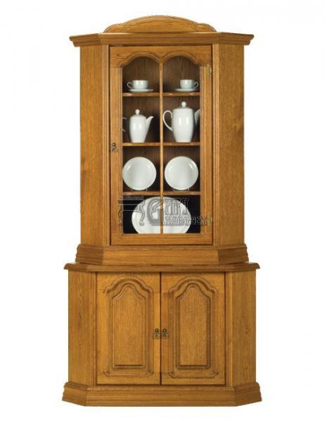 Rustikální nábytek MAGDA I komoda + vitrína rohová, Monika I komoda + vitrína rohová 110x210x70/70