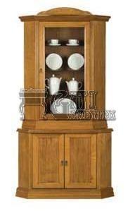 Rustikální nábytek MAGDA II komoda + vitrína rohová, Magda II komoda + vitrína rohová 110x210x70/70