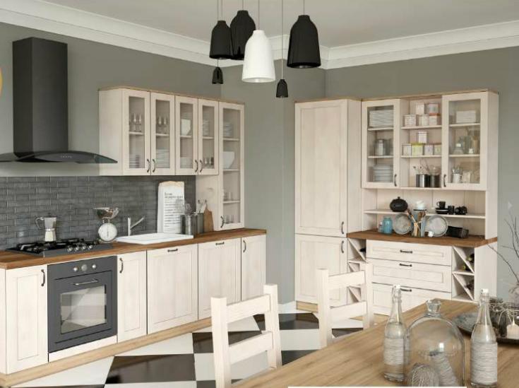 Kuchyně Royal horní skříňky, Kuchyňská linka Royal jako foto