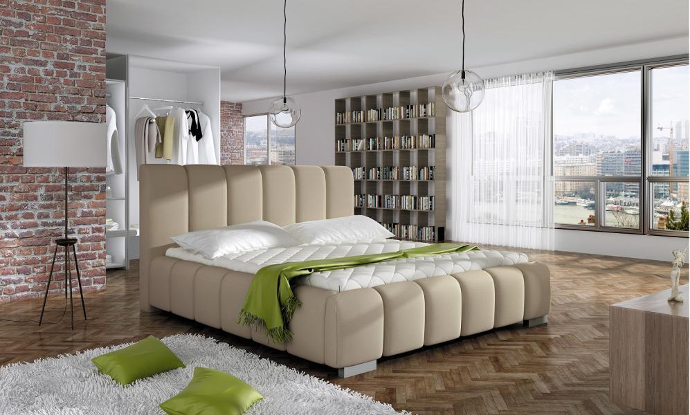 Ložnice Longue, manželská postel 140x200