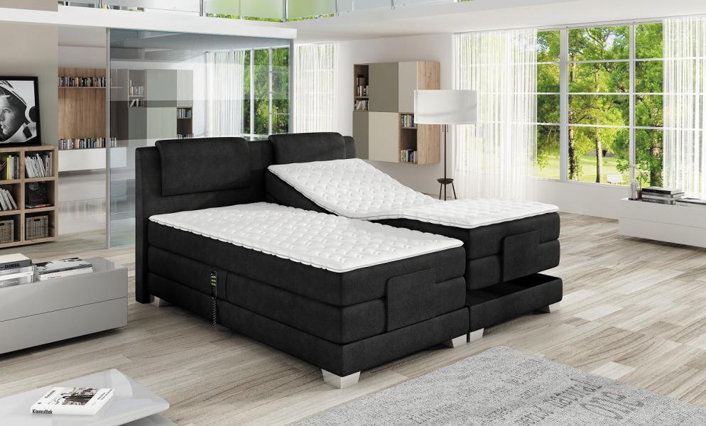 Ložnice WAVE luxusní vysoká nádherná polohovací postel s nádechem exotiky, Wave 140x200
