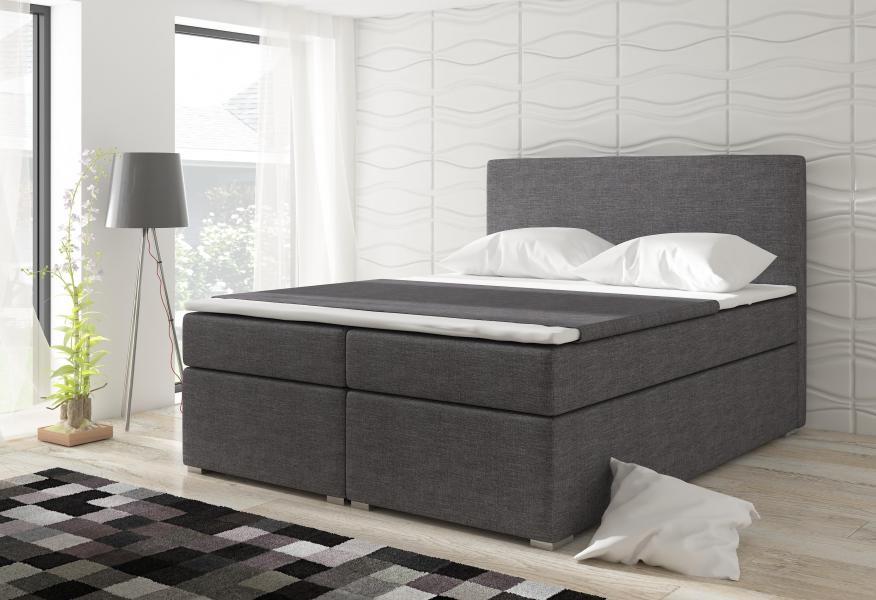 Ložnice DIVALO BOXSPRINGS 160X200 AKCE, Divalo postel 160x200 látka savana 05