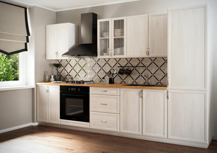 Kuchyně Sycylia Bílá horní skříňky, Kuchyňská linka Sycylia cena od