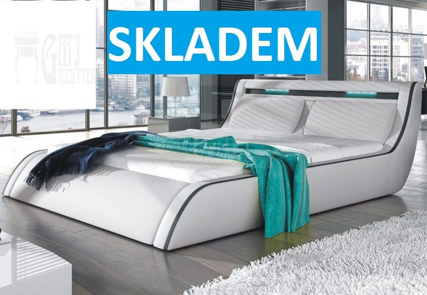 Ložnice Corfu manželská postel SKLADEM 180X200, Corfu jako foto bílá skladem