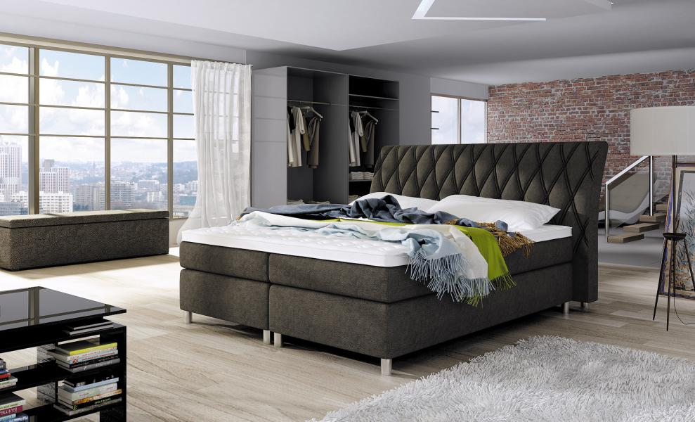 Ložnice Glamour 160x200, postel boxspring Glamour 160x200