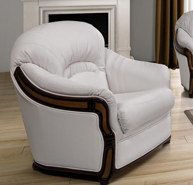 Kožená sedací souprava Siena kožená, Křeslo přírodní kůže