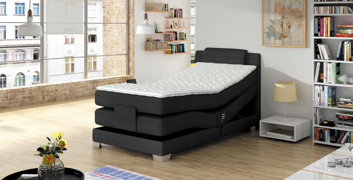 postele boxspring 160x200 rialto nejrychlej cz. Black Bedroom Furniture Sets. Home Design Ideas
